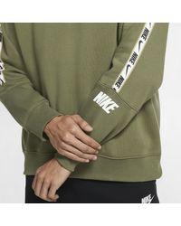 Maglia a girocollo in fleece Sportswear di Nike in Green da Uomo