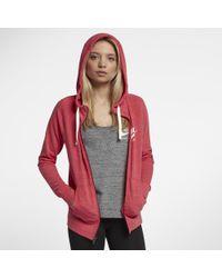 Nike Red Sportswear Gym Vintage Women's Full-zip Hoodie