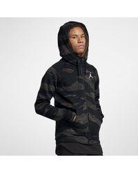 e90ab0a447b197 Nike Jordan Sportswear Jumpman Camo Fleece Full-zip Hoodie in Black ...