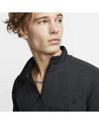 Haut en tissu Fleeceà 1/4 de zip Hurley Dri-FIT Naturals pour Nike pour homme en coloris Black