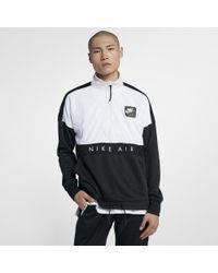 b12b43569 Nike Air Men's Half-zip Top in Black for Men - Lyst