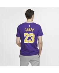 Tee-shirt NBA Los Angeles Lakers Dri-FIT pour Homme di Nike in Blue da Uomo