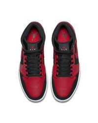 Air Jordan 1 Mid Zapatillas Nike de hombre de color Red