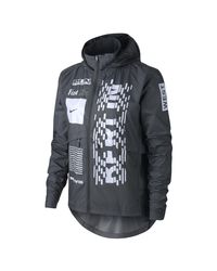 Nike Black Essential (berlin) Hooded Running Jacket