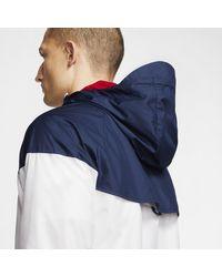 Giacca woven Paris Saint-Germain Windrunner di Nike in White da Uomo