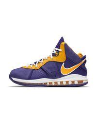 Nike Purple Lebron Viii Shoe for men