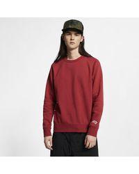 Maglia da skate in fleece SB Icon di Nike in Red da Uomo