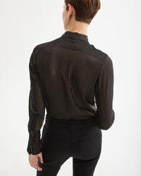 Nili Lotan Black Lleida Shirt
