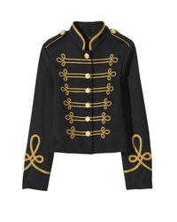 Nili Lotan Black Jaselle Military Jacket