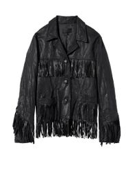 Nili Lotan - Black Fringed Leather Jacket (final Sale) - Lyst