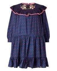 Manoush | Pink Romance Flower Print Dress | Lyst