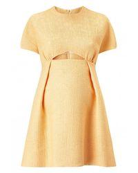 Emilia Wickstead - Metallic Tinker Cut-out Dress - Lyst