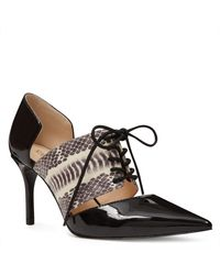 Nine West - Black Marnie Pointy Toe Pumps - Lyst