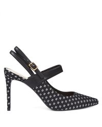 Nine West Black Tabbae Slingback Pumps