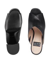 Nine West - Black Lisana 40th Anniversary Platform Slide Heel - Lyst