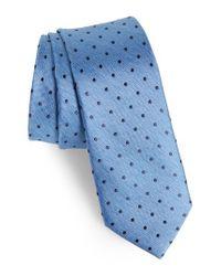 Nordstrom Blue Whitney Dot Silk Tie for men