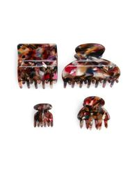 Tasha Multicolor 'marble' Jaw Clips