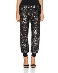 1.STATE Black Sequin Jogger Pants