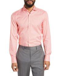 BOSS - Orange Jason Slim Fit Houndstooth Dress Shirt for Men - Lyst