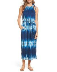 Tommy Bahama | Blue Petra Tie Neck Maxi Dress | Lyst