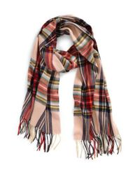 TOPSHOP - Multicolor Traditional Tartan Scarf - Lyst