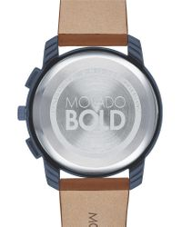 Movado Blue Bold Chronograph Leather Strap Watch