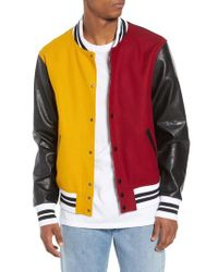 The Rail - Orange Varsity Jacket for Men - Lyst