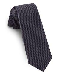 Ted Baker - Black Solid Skinny Silk Tie for Men - Lyst