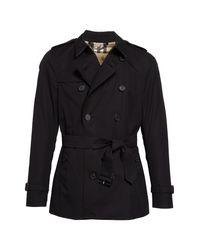 Burberry Black Sandringham Short Double Breasted Trench Coat for men