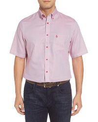 Nordstrom Multicolor 'classic' Smartcare(tm) Regular Fit Short Sleeve Cotton Sport Shirt for men