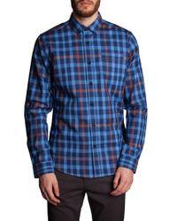 Descendant Of Thieves - Blue Plaid Sport Shirt for Men - Lyst