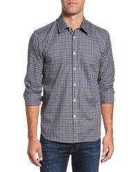 Jeremy Argyle Nyc - Gray Comfort Fit Plaid Sport Shirt for Men - Lyst