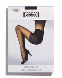 Wolford Black Individual 10 Control Top Pantyhose