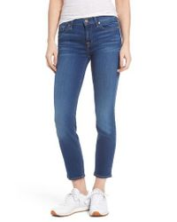 7 For All Mankind Blue 7 For All Mankind Roxanne Ankle Skinny Jeans