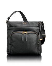 Tumi - Black Voyageur - Capri Leather Crossbody Bag - Lyst