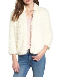 Bishop + Young - Natural Faux Fur Crop Jacket - Lyst