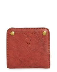 Frye - Red Small Campus Rivet Leather Wallet - Lyst