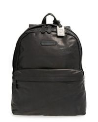 Frye - Black 'tyler' Leather Backpack for Men - Lyst