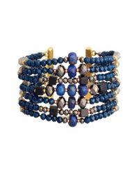Nakamol - Blue Beaded Cuff Bracelet - Lyst