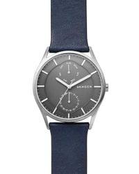 Skagen - Gray Holst Multifunction Leather Strap Watch for Men - Lyst