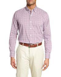 Peter Millar - Purple Diamond Head Regular Fit Gingham Sport Shirt for Men - Lyst