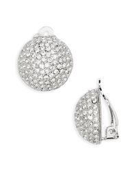 Nina Metallic Clip Swarovski Crystal Earrings