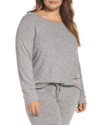 Make + Model - Gray Graphic Brushed Hacci Sweatshirt - Lyst
