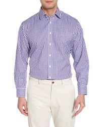 Nordstrom Purple Smartcare(tm) Traditional Fit Check Dress Shirt for men