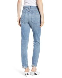 Citizens of Humanity Blue Olivia High Waist Ankle Slim Jeans