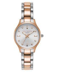 Ted Baker - Metallic Zoe Bracelet Watch - Lyst