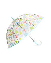Shedrain - Blue 'the Bubble' Auto Open Stick Umbrella - Lyst