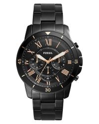 Fossil   Black Grant Sport Chronograph Bracelet Watch for Men   Lyst