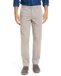 AG Jeans - Gray 'the Lux' Tailored Straight Leg Chinos for Men - Lyst