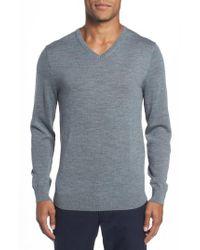 Bonobos   Gray Merino V-neck Sweater for Men   Lyst